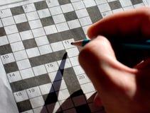 crossword ranek Zdjęcie Royalty Free