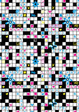 Crossword repeat pattern. Stock Photo