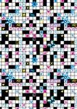 Crossword repeat pattern. Vector illustration of a crossword puzzle in a repeat pattern Stock Photo