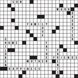 Crossword seamless pattern Stock Image