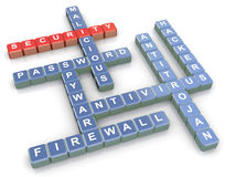 Crossword of security Stock Photography