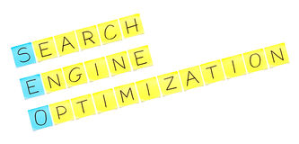 crossword seo Obraz Stock