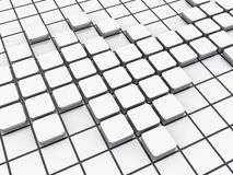 Crossword Series - Empty Blocks Stock Photo