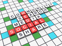 Crossword Series - Social Media Target Stock Image