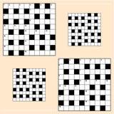 crossword siatek łamigłówka Zdjęcia Royalty Free