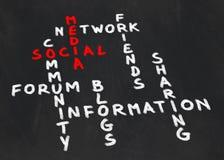 Crossword on social media Royalty Free Stock Photos