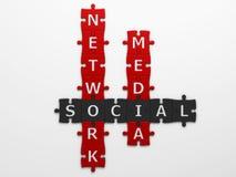 Crossword social media Royalty Free Stock Images