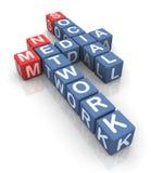Crossword of social media network Stock Photography