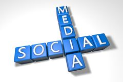 Crossword Social Media Stock Image