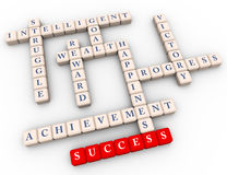 Crossword of success Royalty Free Stock Image