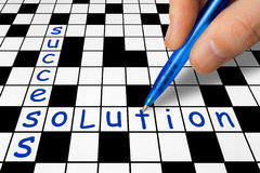 Crossword - Success and Solution Stock Images