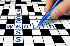 Crossword - Success and Wealth Royalty Free Stock Photography