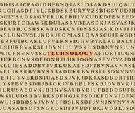 Crossword-technology Stock Image