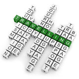 Crossword travelling Royalty Free Stock Images