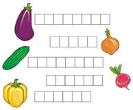 Crossword with vegetables Royalty Free Stock Image