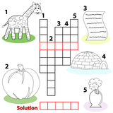 Crossword words game for children stock illustration