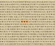 Free Crossword-WWW Stock Photography - 474352