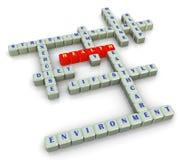crossword zdrowie Fotografia Royalty Free