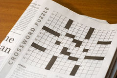 crossword łamigłówka Obraz Royalty Free