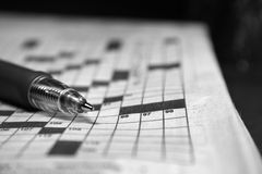 Crosswords. No answer to a puzzle stock image