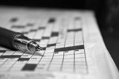 Crosswords Stock Image