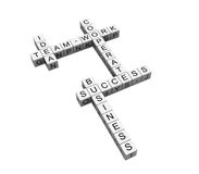 Crosswords. 3d rendered business crosswords on white background Stock Photos