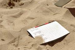 Crosswords na piasku Zdjęcie Royalty Free