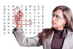crosswords praca zespołowa Fotografia Stock