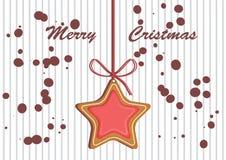 Crosta de gelo colorida decorada pão-de-espécie Ilustração qualitativa do vetor para o dia do ` s do ano novo, Natal, feriado de  Imagem de Stock