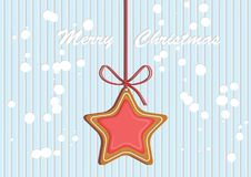 Crosta de gelo colorida decorada pão-de-espécie Ilustração qualitativa do vetor para o dia do ` s do ano novo, Natal, feriado de  Foto de Stock