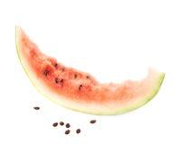 Crosta de uma fatia comida da melancia Fotos de Stock