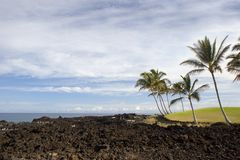 Crosta della lava del litorale di Kona, HI Immagini Stock Libere da Diritti