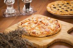 Crosta sottile Pizza_2013-2 del gamberetto Fotografia Stock Libera da Diritti