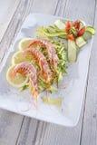 Crostacei e zucchini Fotografia Stock