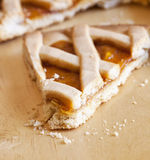 Crostata cake over wood Royalty Free Stock Image