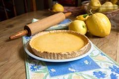 Crostata casalinga del limone Fotografia Stock Libera da Diritti