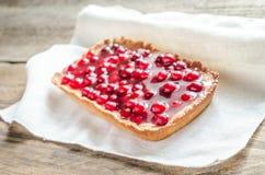 Crostata con i mirtilli rossi freschi gelatina Fotografia Stock