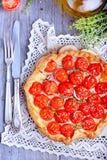 Crostata con i pomodori Fotografie Stock Libere da Diritti