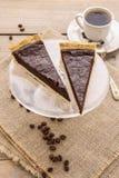 Crostata del cioccolato - dessert fotografie stock