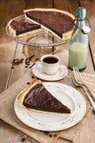 Crostata del cioccolato - dessert fotografia stock