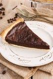 Crostata del cioccolato - dessert fotografia stock libera da diritti