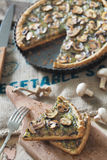 Crostata del fungo Immagine Stock