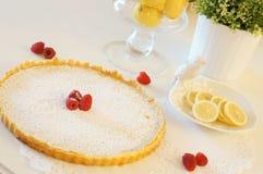 Crostata del limone Fotografia Stock