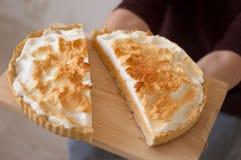 Crostata del limone o torta del limone Fotografia Stock Libera da Diritti