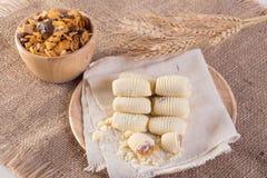 Crostata dell'ananas dei biscotti del cinese tradizionale fotografia stock