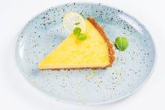 Crostata gialla del limone Immagine Stock