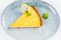 Crostata gialla del limone Fotografie Stock Libere da Diritti