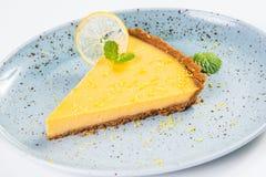 Crostata gialla del limone Fotografia Stock Libera da Diritti