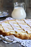 Crostata with ricotta. Royalty Free Stock Photo