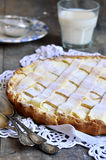 Crostata with ricotta. Stock Photos